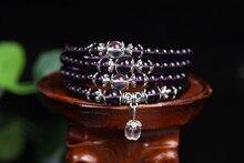 New Fashion 6mm 108pcs Beads Natural Crystal Bracelet Brazic Prayer Beads Muti-Layer Rosary Mala Bracelet for Mediatation