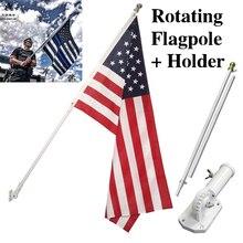 6 piede Heavy Duty Alluminio Spinning Pennone Esterno Montaggio A Parete casa di Pennone bandiera Residenziale o Commerciale Palo di Bandiera