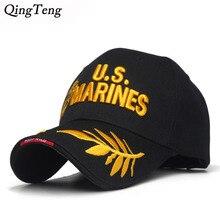 4017f63f9f4 Men S US MARINES Cap Corps Embroidered Ball Cap USA Navy Tactical Hats  Snapback Cap Hat