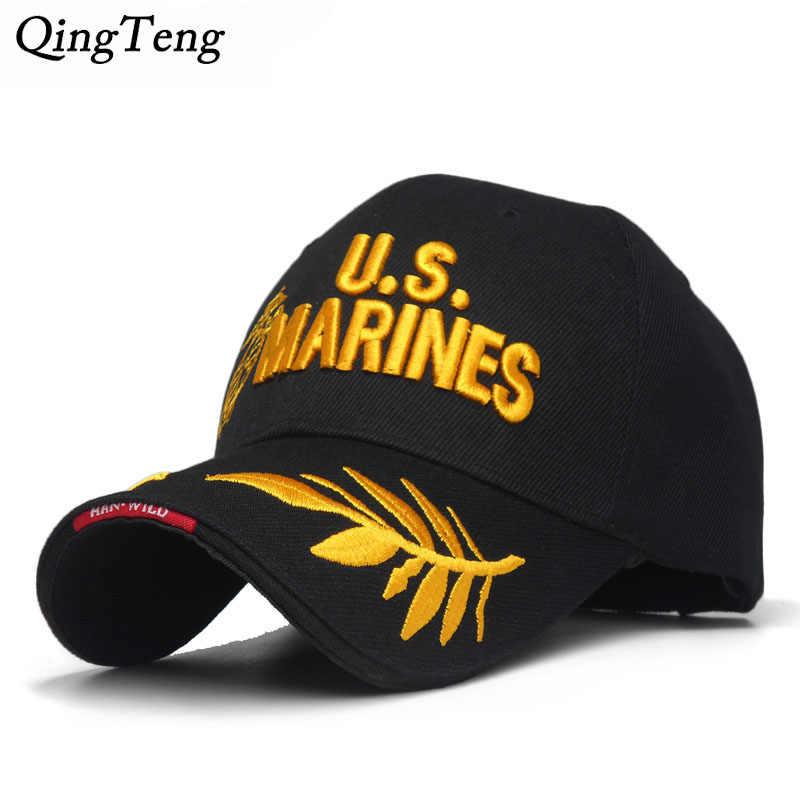 Men S US MARINES Cap Corps Embroidered Ball Cap USA Navy Tactical Hats  Snapback Cap Hat Adjustable 77ee5f657f53