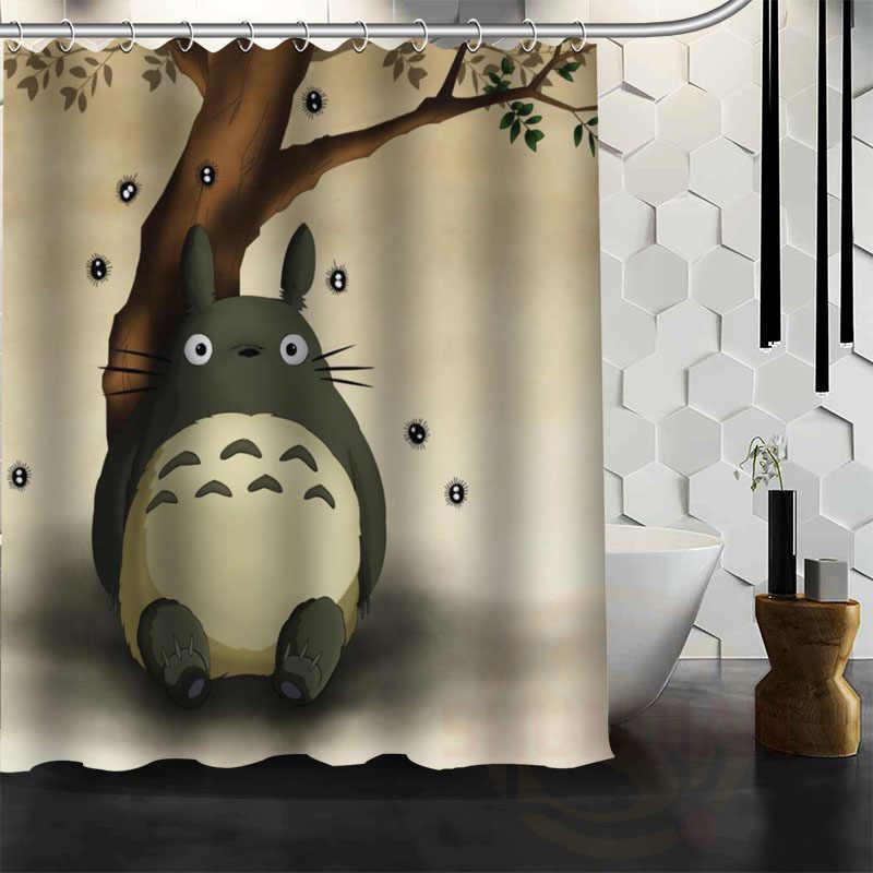 Nowe wszystkie Studio Ghibli charakter Totoro klienta zasłona prysznicowa łazienka wystrój zasłona wanny darmowa wysyłka
