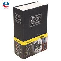 Metal Paper Plate Dictionary Book Secret Hidden Security Safe Key Lock Cash Money Jewellery Locker Durable
