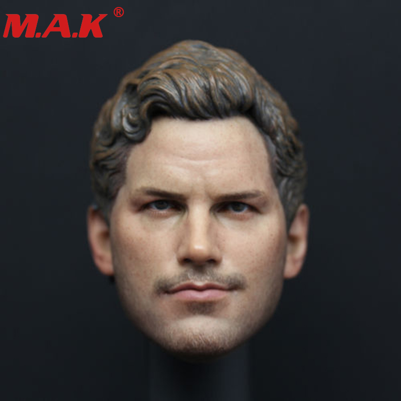 1:6 scale male man head carving star Lord Peter Quayle head sculpt with earphone model fit for 12 inches HT body action figure 1 6 scale male king leonidas calm face head for 12 male head carving model fit 12 action figure body doll toys accessories