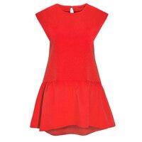 Women S Summer Fashion Dress Short Sleeve Pleated Girl Mini Dress Irregular Loose O Neck Solid