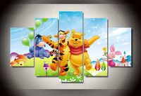 HD Printed Cartoon Winnie The Pooh Painting Canvas Print Room Decor Print Poster Picture Canvas Free