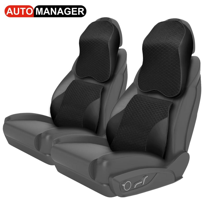 Big Size Car Neck Pillow Auto Seat Back Waist Support Massage Cushion Memory Form Pillows Universal Car Accessories