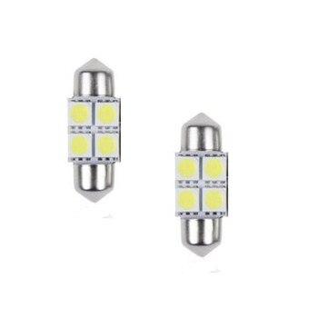 CARPRIE 2018 HOT New  2x 5050 31mm 4SMD Car Interior Dome Festoon LED Light Bulbs Lamp White DC12V Jul20