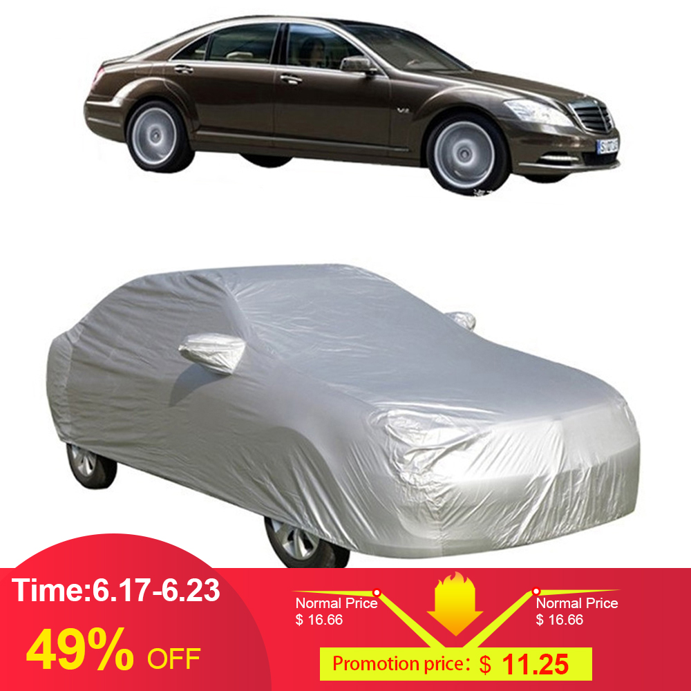 Full Car Cover Indoor Outdoor Sunscreen Heat Protection Dustproof Anti-UV Scratch-Resistant for Sedan Car Protectors Suit S-XXL(China)