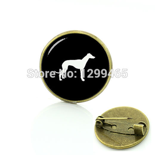Unique Design Greyhound Dog pin Independent original design Dog brooches Novelty Interesting Pleut badge C 954
