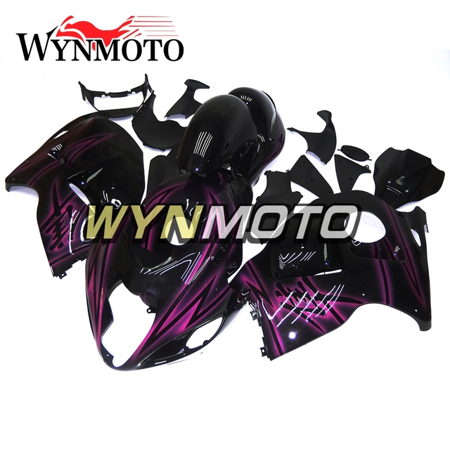 Full ABS Plastic Injection Black Purple Flame Body Kit For Suzuki GSXR1300 Hayabusa 1997 - 2007 Bodywork New Motorcycle Fairings