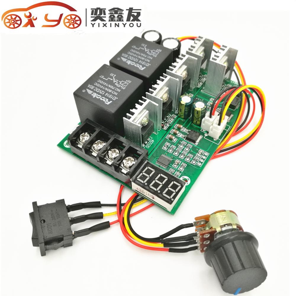 Digital display dc9 50v 40a dc motor speed control for Rheostat motor speed control
