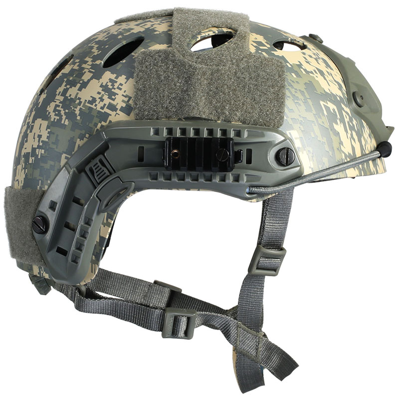 Camouflage Tactical Helmet FAST PJ Airsoft Wargame Paintball Head Safety Protector tactical wargame motorcycling helmet w eye protection glasses grey black size l7