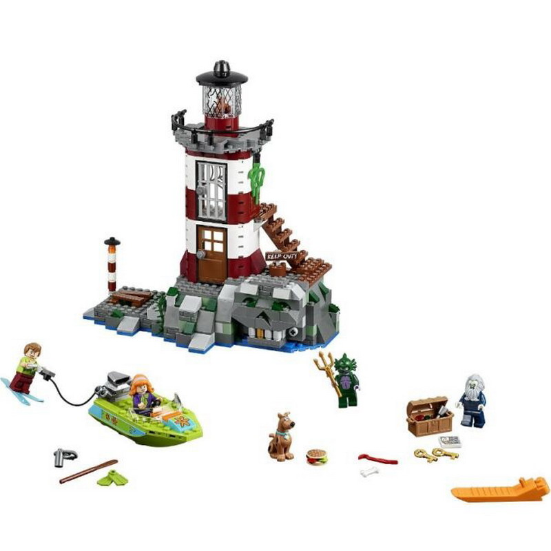 10431 BELA Scooby-Doo Haunted Lighthouse Model Building Blocks Classic Enlighten DIY Figure Toys For Children Compatible Legoe 20 sets simcity human model building blocks assemble classic enlighten construction figure toys for children compatible legoe
