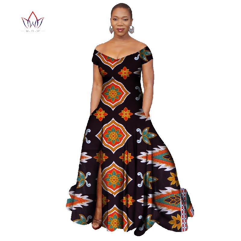2018 Лонг Хаљина Африка Базин Рицхе - Женска одећа - Фотографија 2
