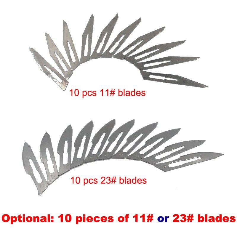 Мешок 10 шт 11 # или 23 #, хирургические лезвия для №3 или №4, лезвия, ручка, режущий станок, пленка для резки, для готовки скотоводства