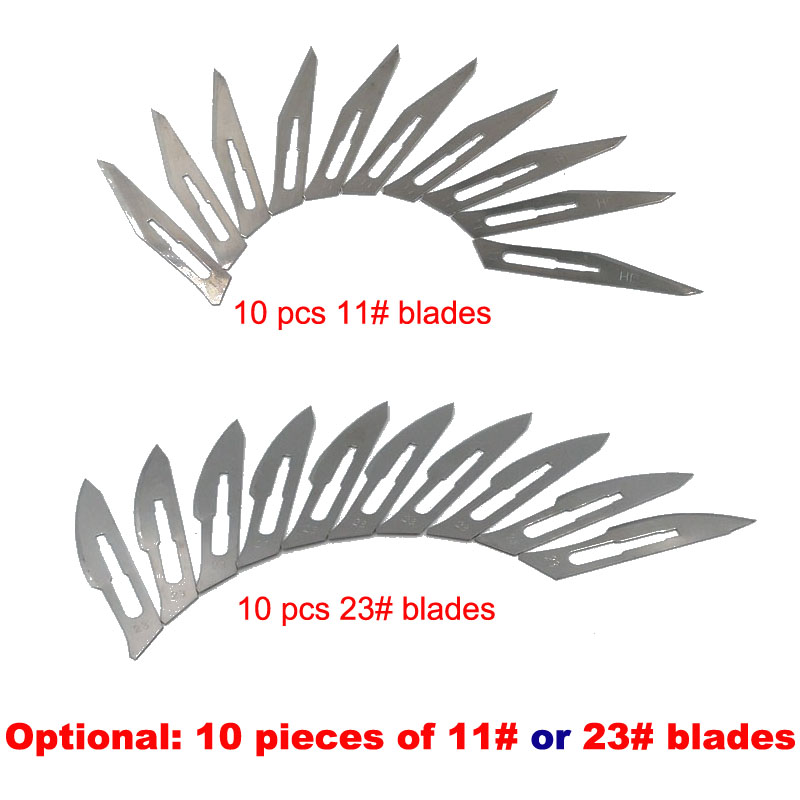 A Bag 10 Pcs 11# or 23# Surgical Blades For No.3 or No.4 Blade Handle Graver Repairing PCB Cutting Film, Cattle Tendons Cooking 100 pcs cattle bone