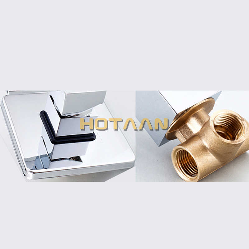Bath & Shower Faucets Control Brass Mixing Valve Switch Concealed Shower Valve Mixer Hotel Faucet Mixing Wall Shower Switch 5308