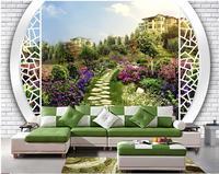 3D Landscape Garden Villa custom photo wallpaper modern living room wallpapers Home Decoration