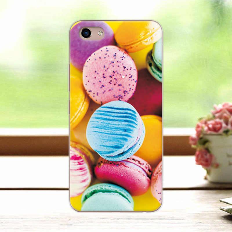 Милые модные Окрашенные Случаи Капа для естественных Y81 6,22 дюймов шикарный мягкий силиконовый задняя крышка Симпатичные для VivoY81 Y 81 coque телефон оболочки