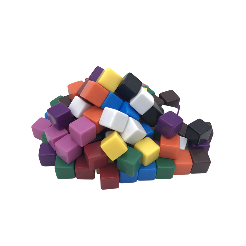 100Pcs/Lot New High Quality <font><b>16mm</b></font> Acrylic Color <font><b>Blank</b></font> <font><b>Dice</b></font> D6 Can Write Carving Children Teaching Game <font><b>Dice</b></font> Wholesale Board Games image