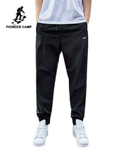 Pioneer Camp Casual Pants Fitness Men Sportswear Tracksuit Bottoms Skinny Trousers Black Gyms Patchwork Jogger Track AXX901068(China)