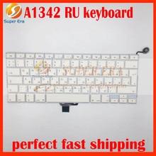 """A1342 RU Клавиатура для MacBook 13.3 """"белый A1342 Unibody 2009 2010 год RU Большой Введите макет ЕС Россия Русский"""