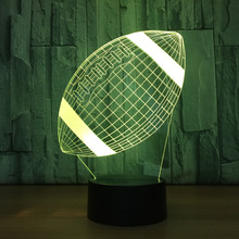 American Football Lamp 3d Led Touch Sensor Children's Night Light Bed Room Atmosphere Drop Shipping Holiday Gift Bedside Lamp france football paris sg lampe 3d lamp 7 changement de couleurs touch sensor table desk lamp atmosphere bedside lights 3d 727