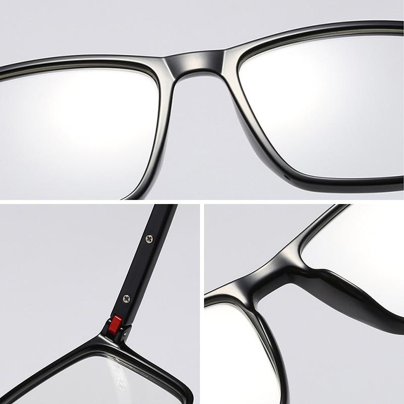 UNIEOWFA Blue Light Prescription Glasses Men Optical Photochromic Eyeglasses Progressive Myopia Hyperopia Eyewear TR90 Frame