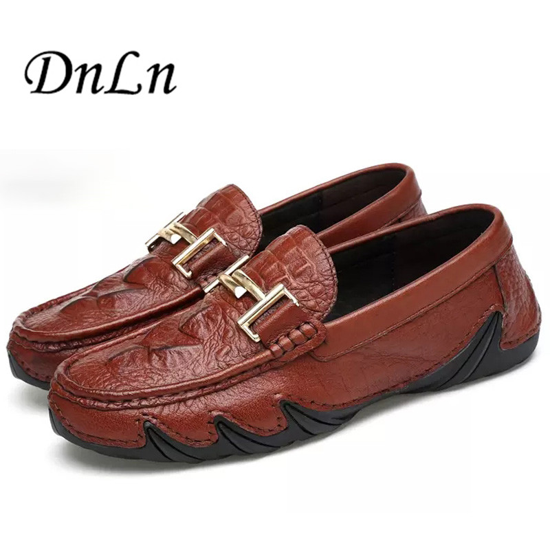 цены  Size 38-44 Mens Leather Driving Shoes Black Brown Men Mocassins Shoes Fashion Loafers Breathable Slip On Shoes D30