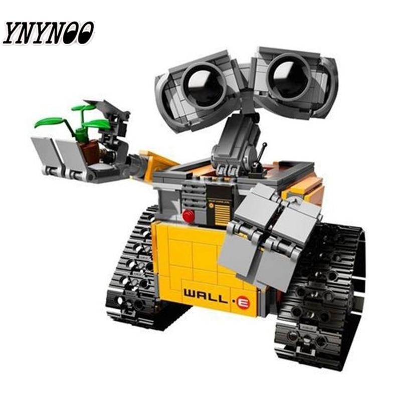 YNYNOO 16003 Ideas Robot Wall-E Building Assembling Blocks Bricks Educational Kid`s Toys Compatible with 21303 lovely Toys lepin 16003 ideas robot wall e building assembling blocks bricks educational kid s toys compatible with lele 21303 b162
