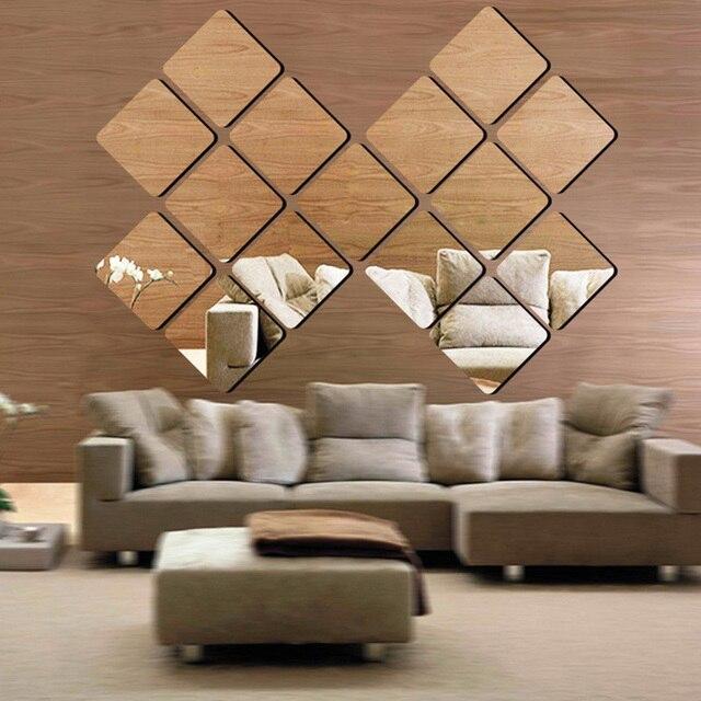 Aliexpress.com: Koop 1 stks Vierkante Acryl Spiegel Effect Sticker ...