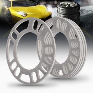Image 4 - 4 Pcs 5mm Car Wheel Spacer Shims Plate 4 5 STUD Universal For Auto 4x100 4x114.3 5x100 5x108 5x114.3 5x120 Etc Car Accessories