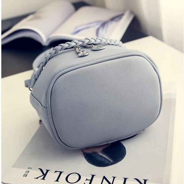 Women's PU Leather Bucket Bag  5
