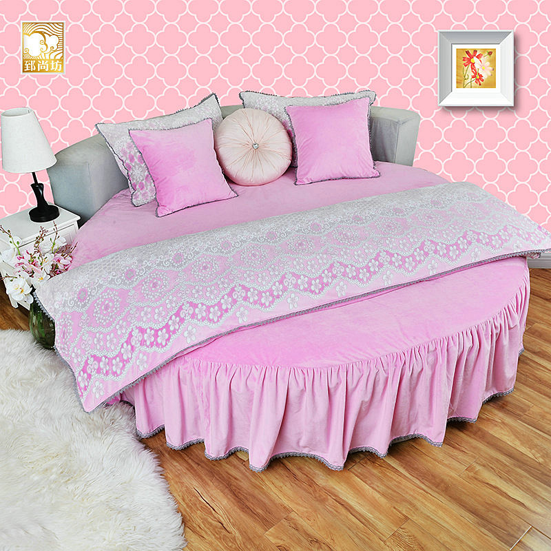 Fleece Thickening Round Four Piece Set Bed Sheets Winter