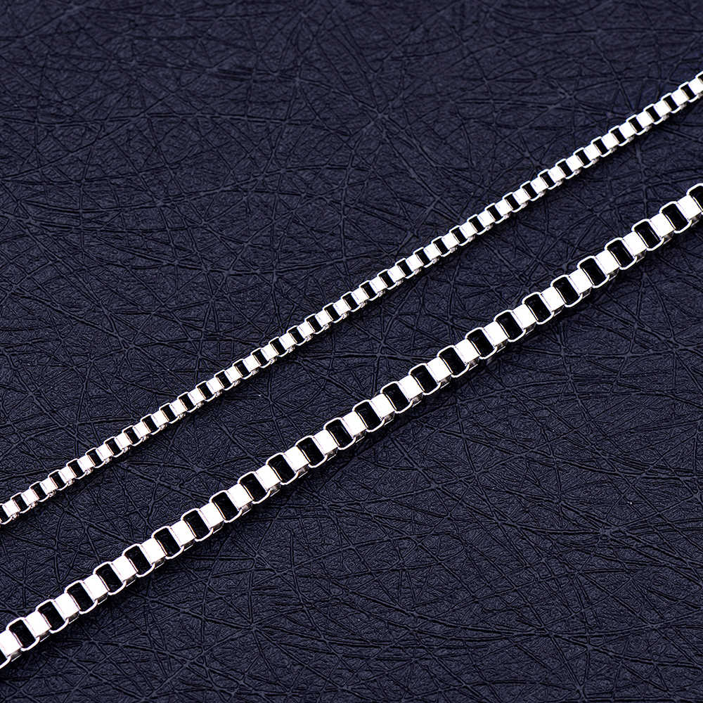 الجملة منخفضة السعر الفولاذ المقاوم للصدأ 2 مللي متر 3 مللي متر مربع سلسلة قلادة موضة مجوهرات للجنسين صالح قلادة 18-28 بوصة انخفاض الشحن