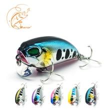 Thritop Skilled Arduous Bait Crank Fishing Lures TP060 4.5cm 8g 5 Numerous Colours for Choice Fishing Bait Wobblers Sharp Hooks