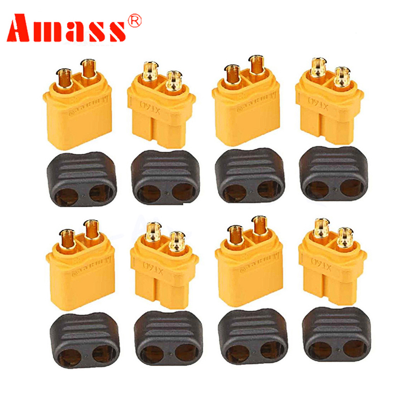 Amass XT60 XT-60 connector 10pcs With Sheath Housing Female / male XT60 plug for RC Lipo Battery wholesale(China)