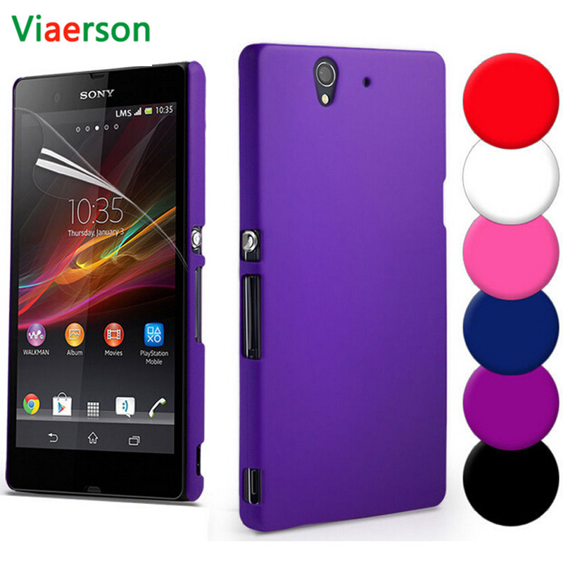 Slim Hard Matte Cover <font><b>Case</b></font> For <font><b>Sony</b></font> <font><b>Xperia</b></font> Z Z1 <font><b>Z2</b></font> Z3 Z5 Compact L1 M2 M4 M5 E5 XZ XZS XZ1 XA XA1 X Performance <font><b>Case</b></font> Glass Cover image