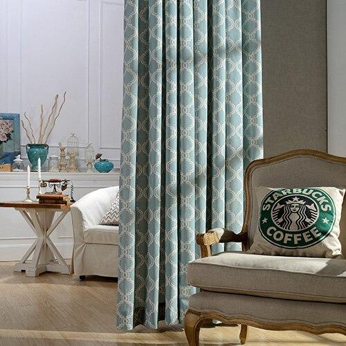 US $11.54 19% di SCONTO|DSinterior di alta qualità classico moderno design  stampa cotone poliestere tenda per soggiorno o camera da letto in ...