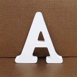 1pc 10X10CM Wooden Letters Wedding Party Decoration Home Art Decor Letras Ornaments Wood Letter Alphabet English Letters Diy