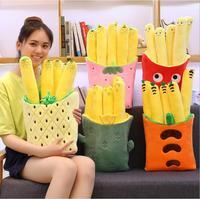 Lovely Pineapple Strawberry Carrot Cactus Chips Soft Pillow Plush Toys Blanket Cushion Birthday Christmas Gift #1428