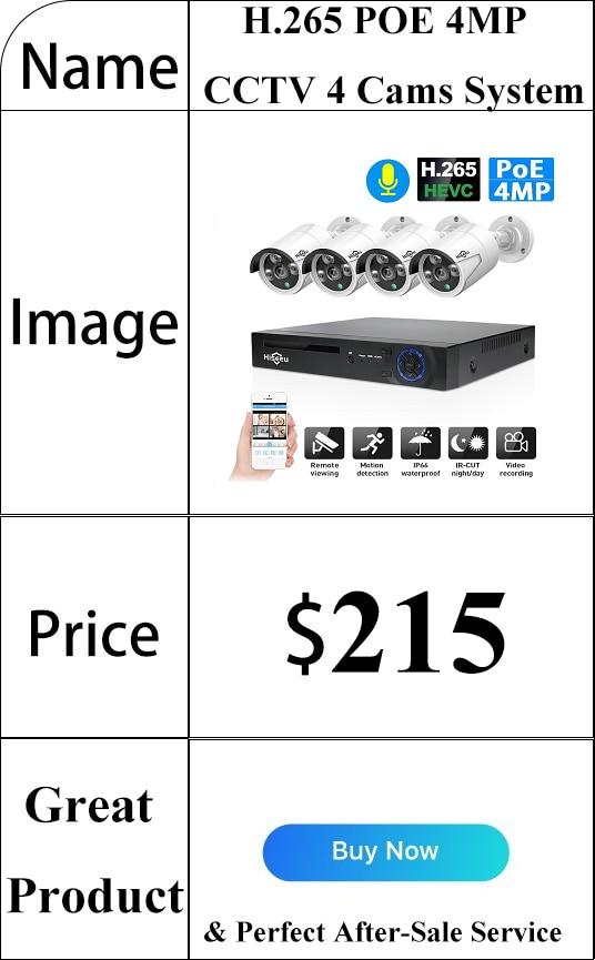 HTB19V6ta9SD3KVjSZFKq6z10VXa5 Hiseeu Home Security Cameras System Video Surveillance Kit CCTV 4CH 720P 4PCS Outdoor AHD Security Camera System