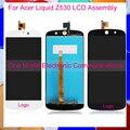 """Высокое Качество Черный Белый 5.0 """"для Acer Liquid Z530 Телефон Полный Жк-Дисплей Дигитайзер С Сенсорным Экраном Полной Сборки"""