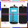 "High Quality Black White 5.0"" For Acer Liquid Z530 Phone Full LCD Screen Display Digitizer With Touch Screen Complete Assembly"