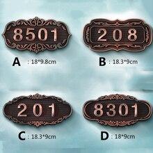 Индивидуальные дверные таблички для дома ворота гостиничная комната индивидуальные 3/4 цифры номер дома Huisnummer наклейки значок дверного номера