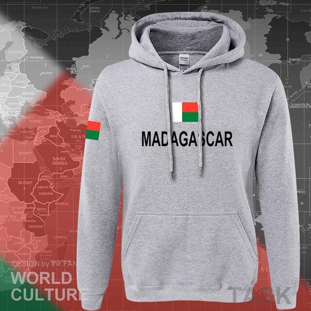 Madagascar con cappuccio da uomo felpa felpa sportivi hop streetwear tuta nazione calciatore MDG Malagasy Madagasikara Madagascar
