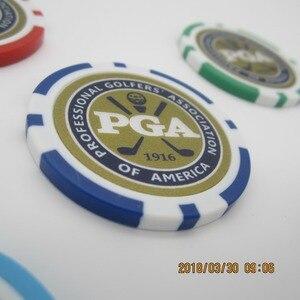 Image 4 - 12EA new design pga golf poker chip ball marker many color 40cm dia 11.5g best seller golf ball marker