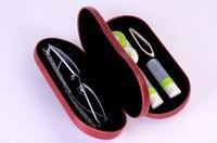 LIUSVENTINA sevimli katı gözlük çantası gözlük arkadaşı kutusu deri kutusu 3 türleri için kontakt lens çantası lensler konteyner