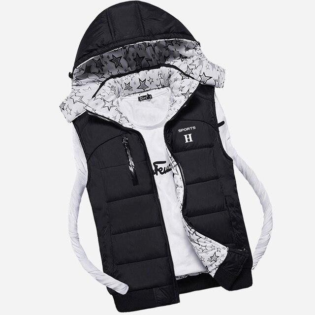 2016 new winter down vest male thin cotton vest youth movement horse clip