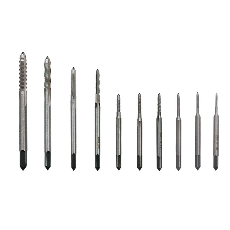 5pcs Mini M1 M1.2 M1.4 M1.6 M1.7 M1.8 M2 2.5 M3 3.5 Tap Set Straight Fluted Screw Thread HSS Metric Hand Tap Drill Bits